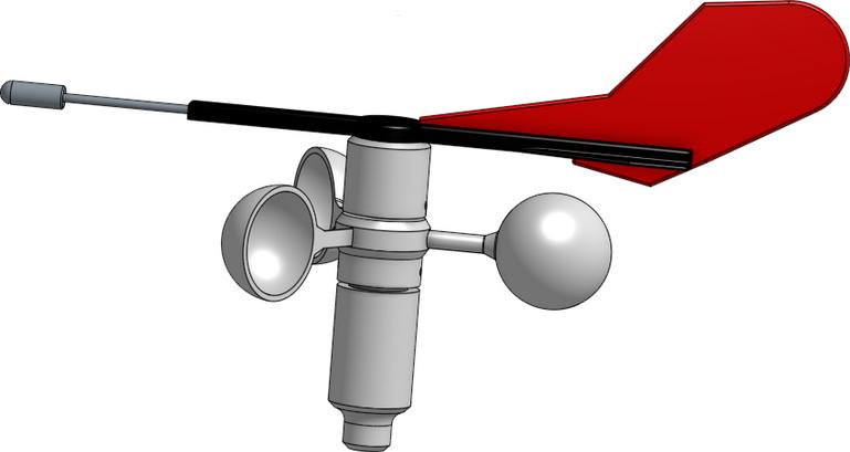 Windsensor 3D Modell